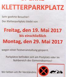 19. bis 29. Mai 2017 | Parkplatzsperre Leite Klettersteig