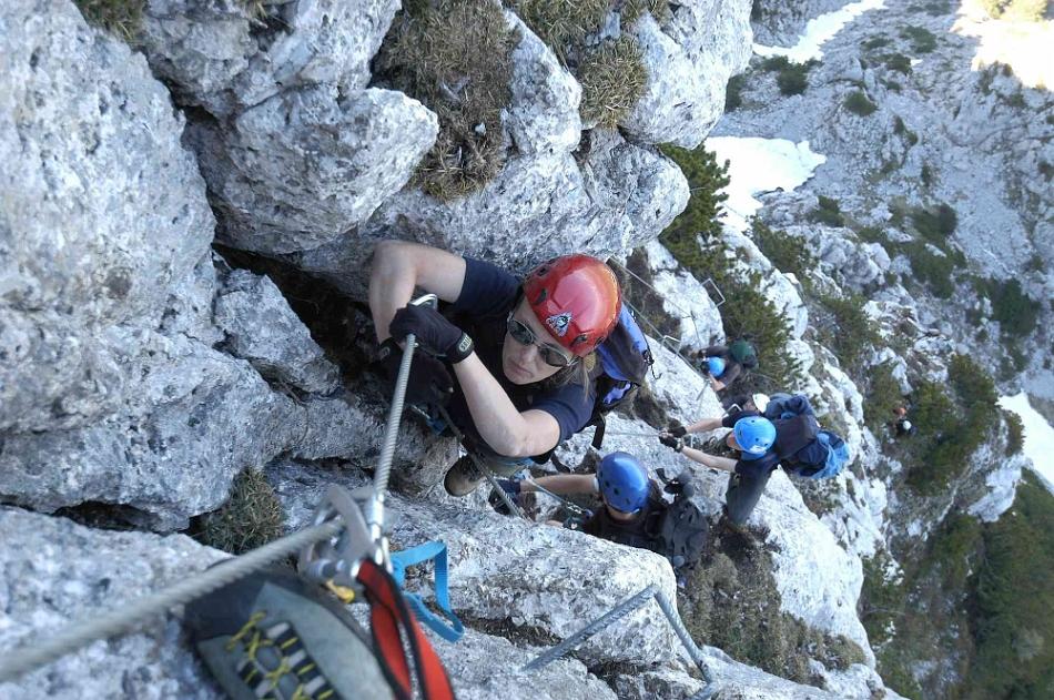 Pidinger Klettersteig : Sperre am pidinger klettersteig klettersteige