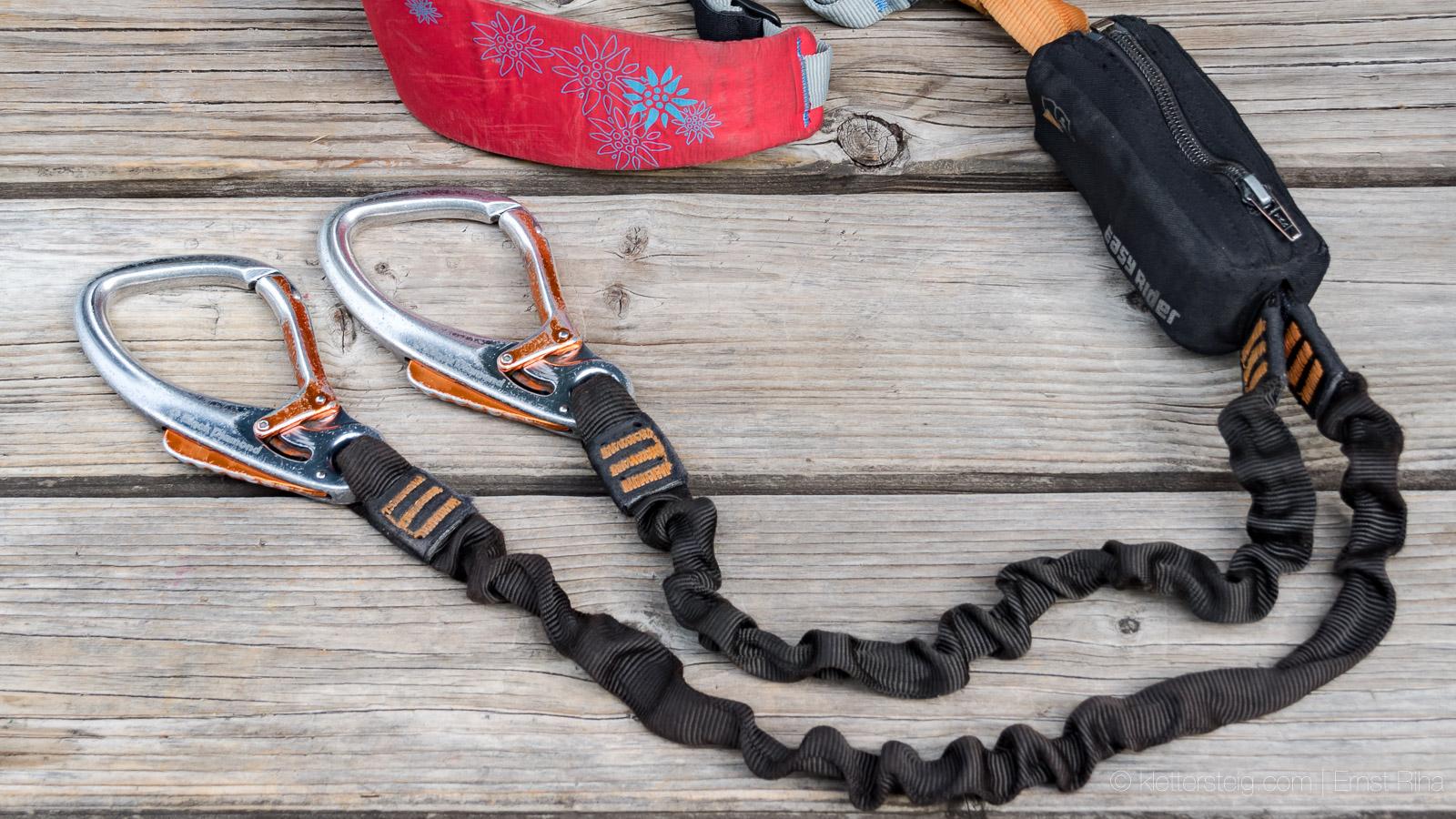 Klettersteigset Bandfalldämpfer : Klettersteigset bandfalldämpfer funktion: neue klettersteignorm