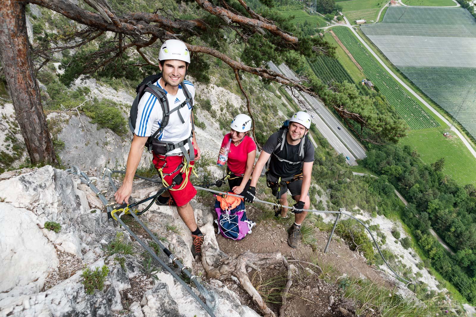 Klettersteig Geierwand : Juli geierwand klettersteig klettersteige