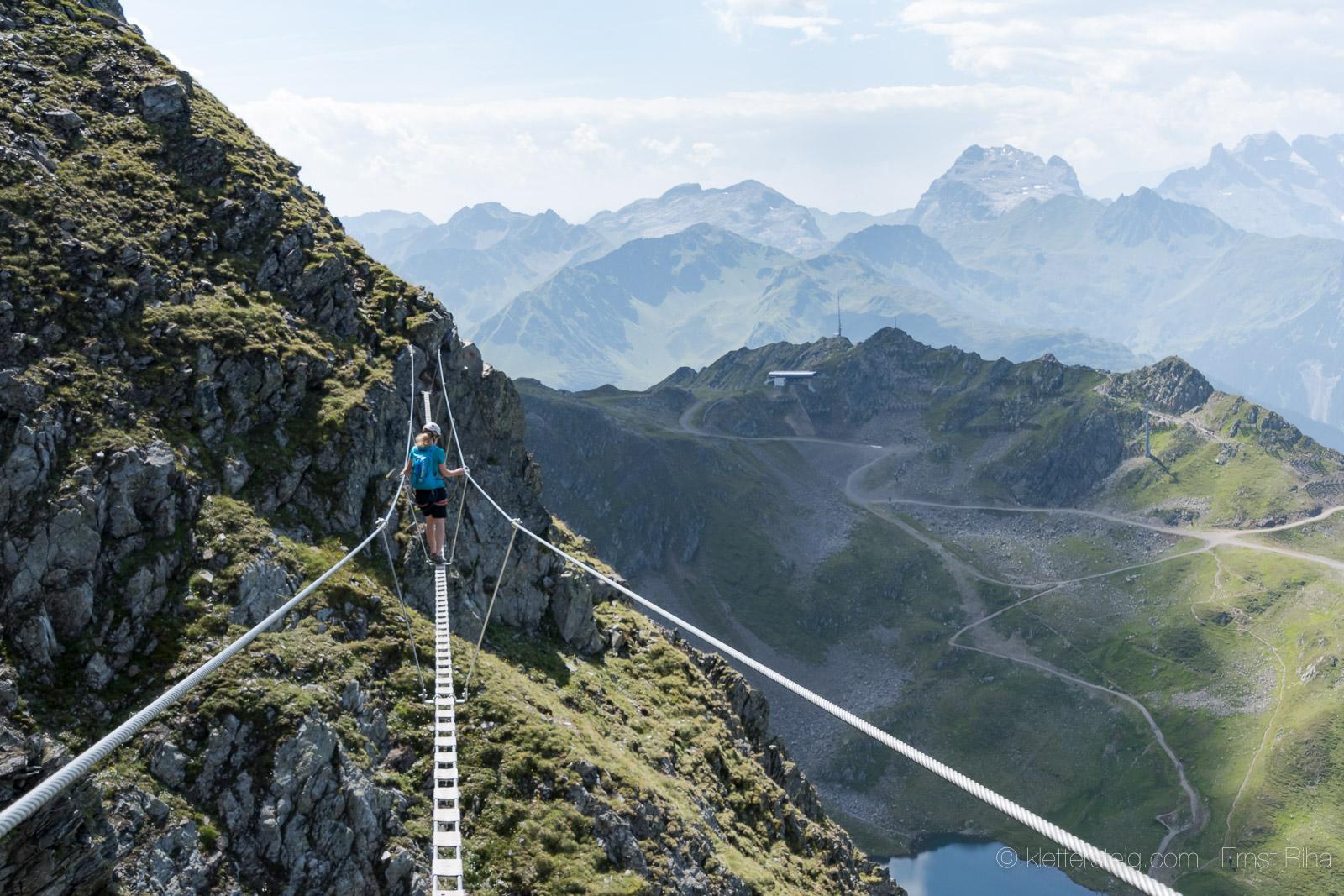 Klettersteig Montafon : Neu hochjoch klettersteig u schruns klettersteige