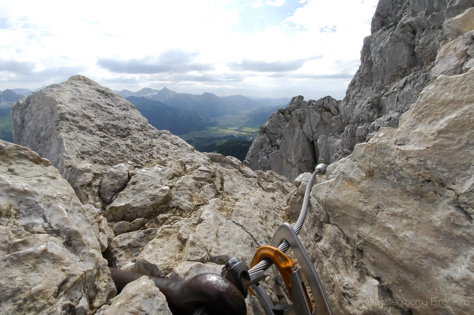 Friedberger Klettersteig : Rote flüh friedberger klettersteig klettersteige