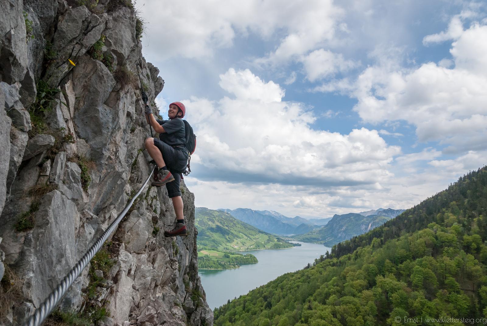 Klettersteig Drachenwand : Drachenwand klettersteig mondsee klettersteige