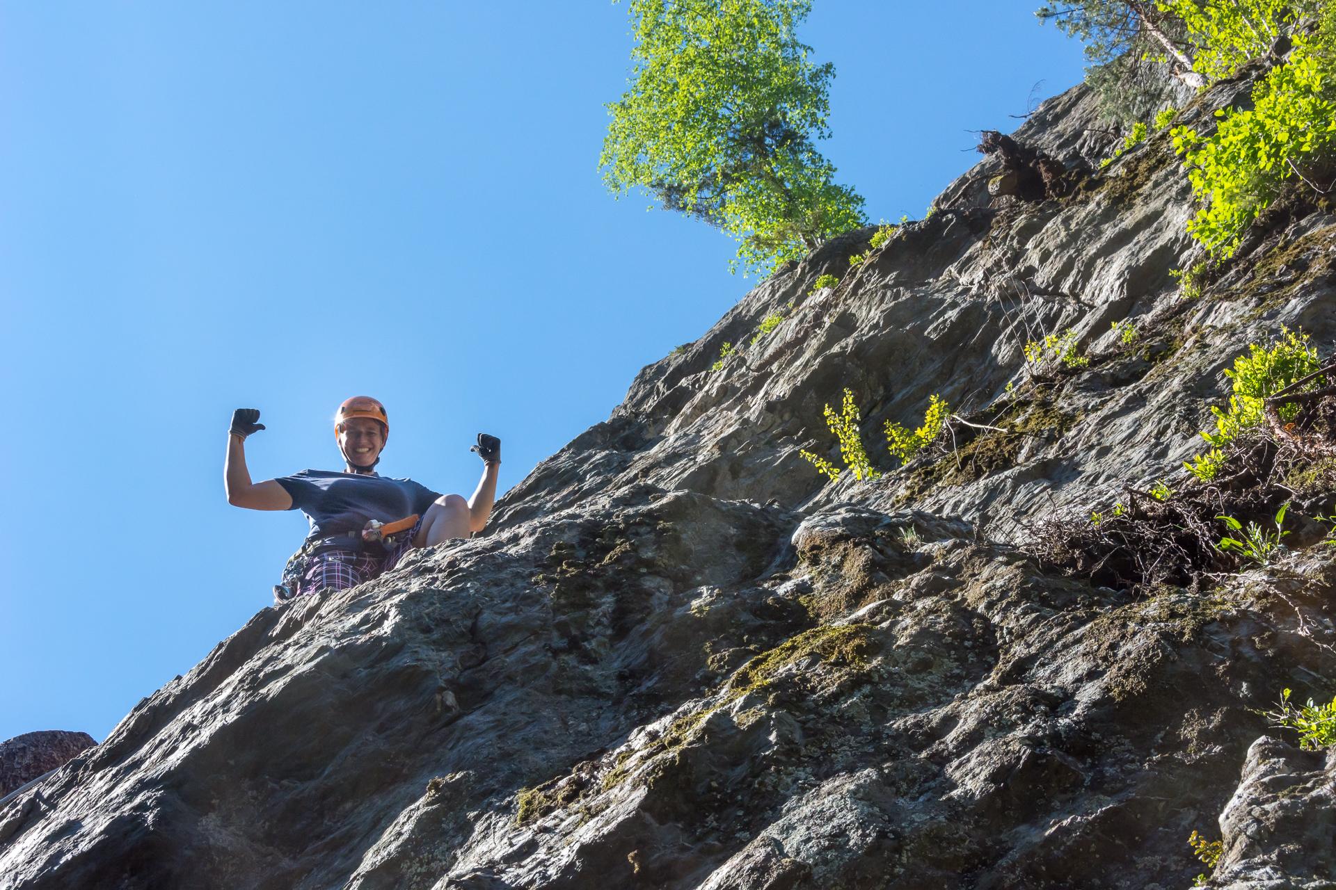 Klettersteig Talbach : Talbach klettersteig zell am ziller klettersteige