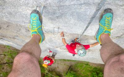Zwei Klettersteige am WIDA SCHROFEN / Schnepfau – Vorarlberg