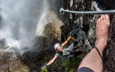 Jubiläumsklettersteig Lehner Wasserfall