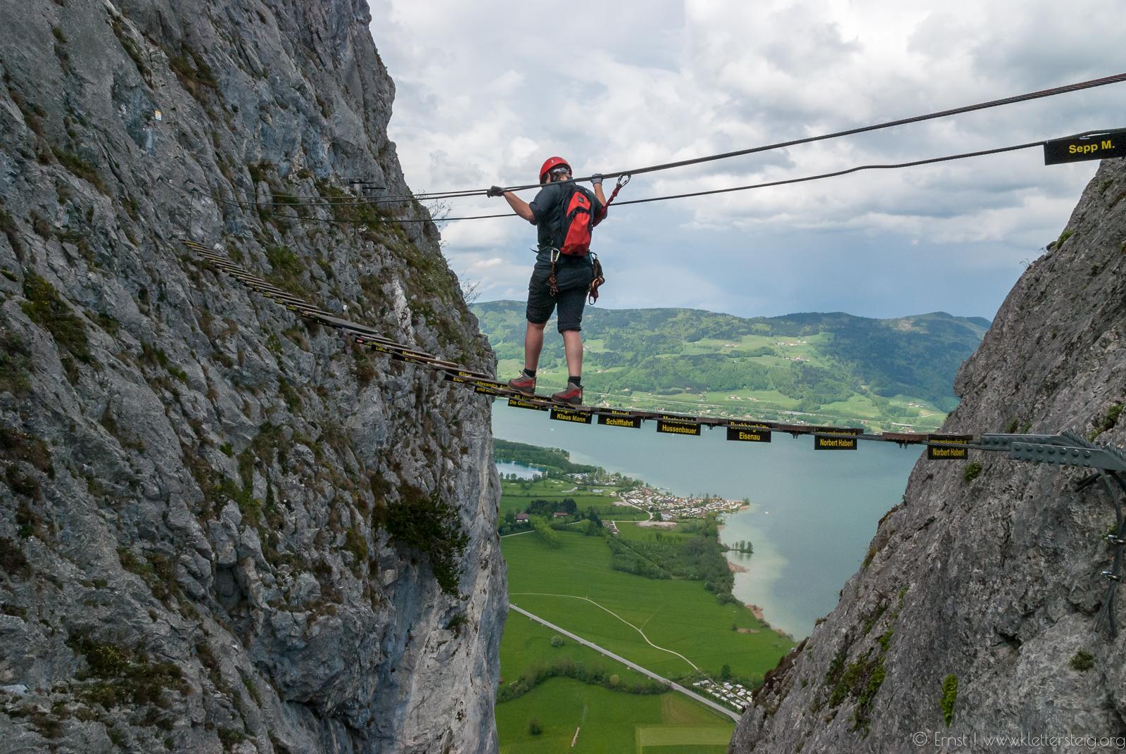 Klettersteig Drachenwand : Drachenwand abstieg sperre aufgehoben klettersteige