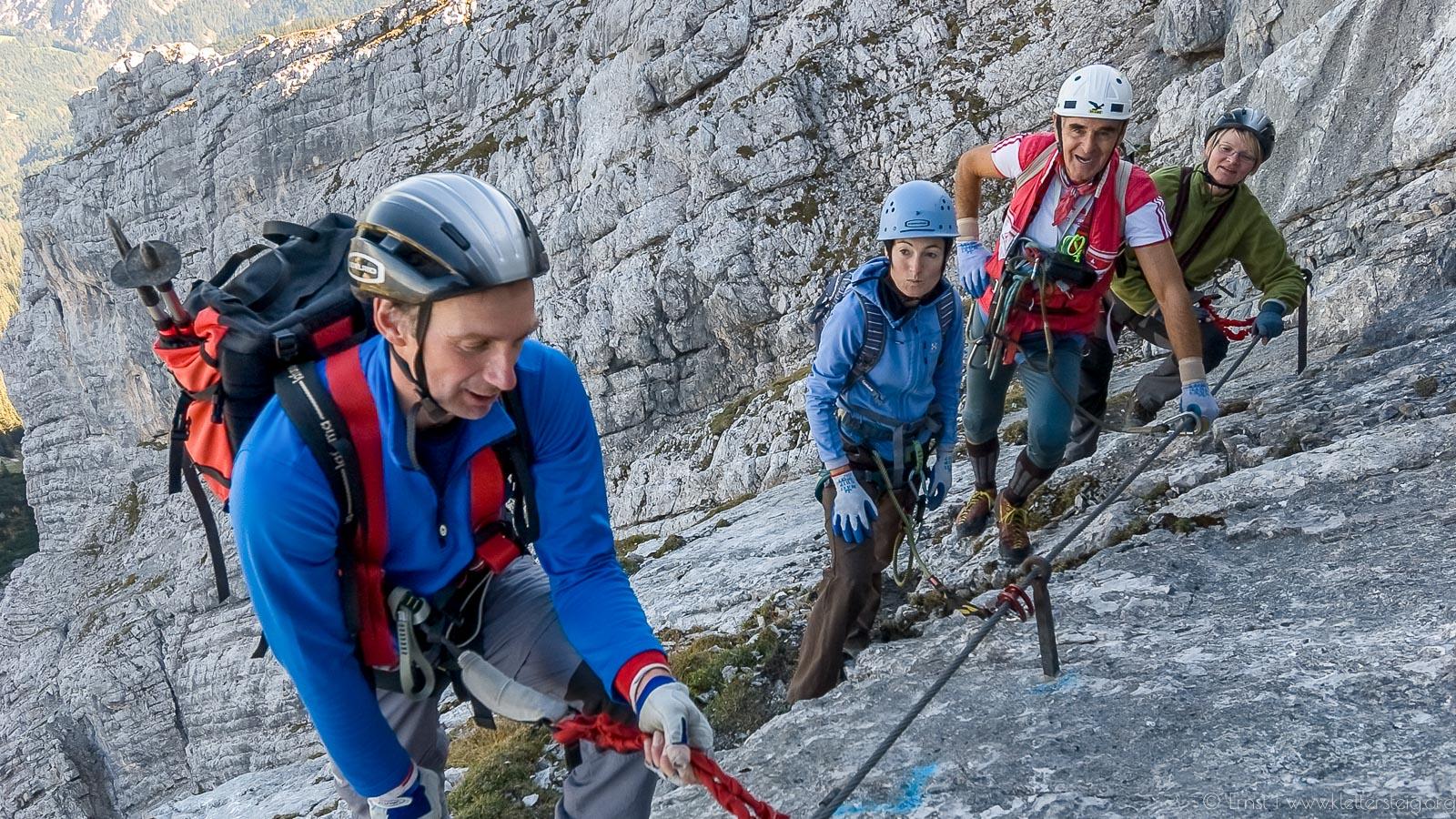 Maulerläufer Klettersteig Garmisch / Oktober 2009
