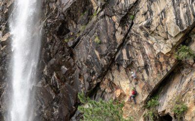 Über den Lehner Wasserfall Klettersteig zur Stabele Alm